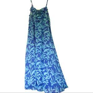 Blue Ruffle Cami Maxi Dress by Lane Bryant 18/20